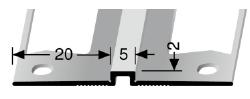 Wand- und Tapetenprofil (170G) gestanzt