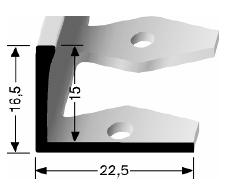 Einfach biegbares Abschlussprofil (306)