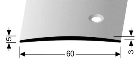 Übergangsprofil (464S) seitlich versenkt gebohrt