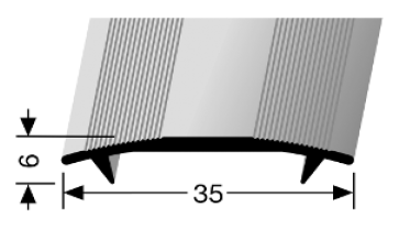 Übergangsprofil (445) versenkt gebohrt