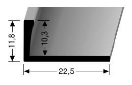 Abschlussprofil (304U) ungestanzt