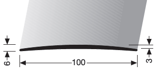 Übergangsprofil (466U) ungebohrt