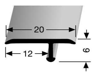 Einfach biegbares T-Profil (291)