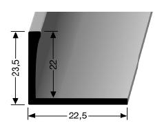 Abschlussprofil (309U) ungestanzt