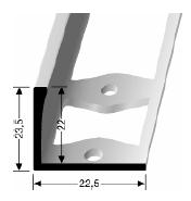 Doppel-K Profil (309G) gestanzt