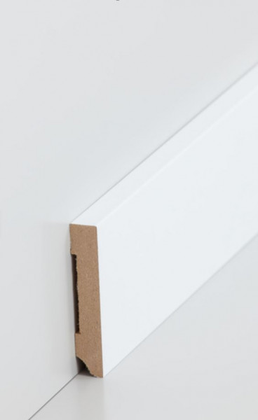 MDF-Kern-Sockelleisten 10 mm Stark, rechteckig