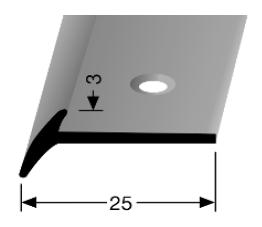 Schwellenprofil (342) versenkt gebohrt