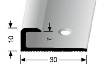 Einschubprofil (803) versenkt gebohrt