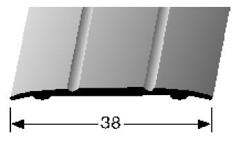 Übergangsprofil (438SK) selbstklebend
