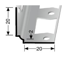 Wand- und Tapetenprofil (160G) gestanzt