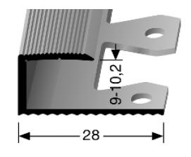 Einfach biegbares Abschlussprofil (212EB)