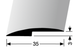 Abschluss-/ Anpassungsprofil (250U) ungebohrt