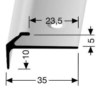 Treppenkantenprofil (855) versenkt gebohrt