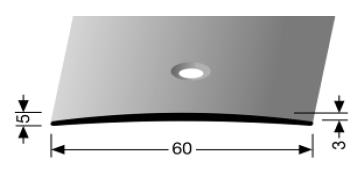 Übergangsprofil (464) versenkt gebohrt