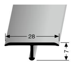 Einfach biegbares T-Profil (293)