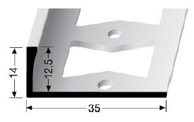 Doppel-K Profil (335G) gestanzt