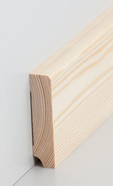 Massivholz-Sockelleiste Kiefer 19 mm Stark, abgerundet