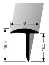Abschlussprofil (294) versenkt gebohrt