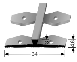 Einfach biegbares Abschlussprofil (365EB)