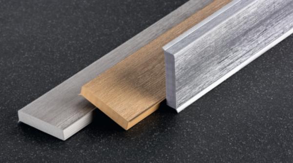 Q 12M Hartschaum-Sockelleiste 60x12 mm, Metalicfarben