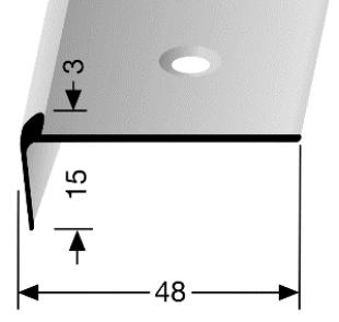 Treppenkantenprofil (860) versenkt gebohrt