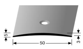 Übergangsprofil (463) versenkt gebohrt
