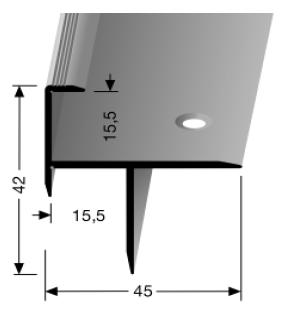 Treppenkantenprofil (206) versenkt gebohrt
