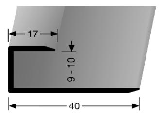 Einschubprofil (201U) ungebohrt