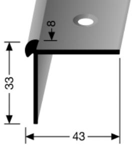 Treppenkantenprofil (875) versenkt gebohrt