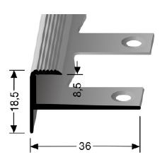 Biegbares Treppenkantenprofil (810EB)