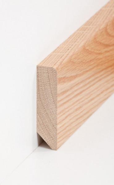 Massivholz-Sockelleiste 20 x 80 mm