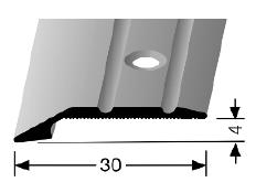 Abschluss-/ Anpassungsprofil (240) versenkt gebohrt
