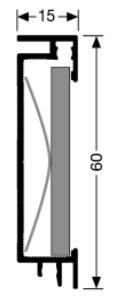 Aluminium-Sockelleiste (950), 60x15 mm