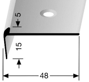 Treppenkantenprofil (863) versenkt gebohrt