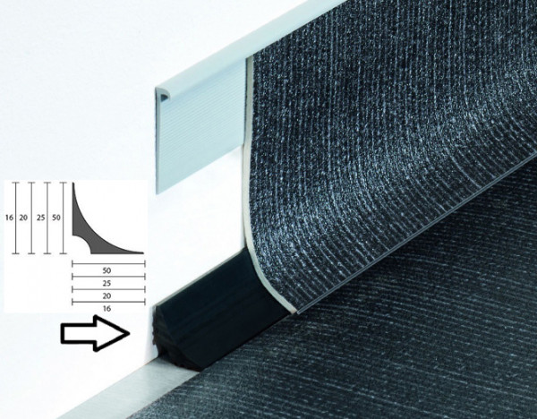 Weich-PVC Hohlkehlsockelleiste