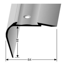 Treppenkantenprofil (707A) für PVC-Gleitschutzeinlagen, versenkt gebohrt