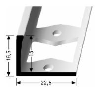 Doppel-K Profil (306G) gestanzt
