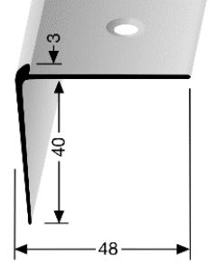 Treppenkantenprofil (862) versenkt gebohrt