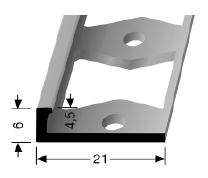 Doppel-K Profil (302G) gestanzt