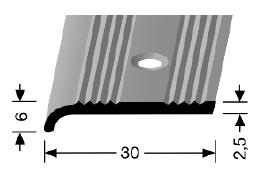 Abschluss-/ Schwellenprofil (243) versenkt gebohrt