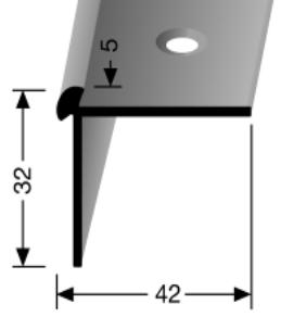 Treppenkantenprofil (873) versenkt gebohrt