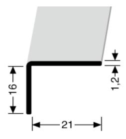Winkelprofil (278U) ungebohrt