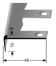 Biegbares Treppenkantenprofil (864EB)