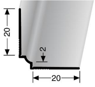 Wand- und Tapetenprofil (160U) ungestanzt