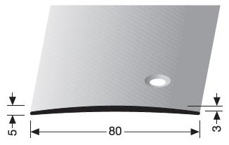 Übergangsprofil (465S) seitlich versenkt gebohrt