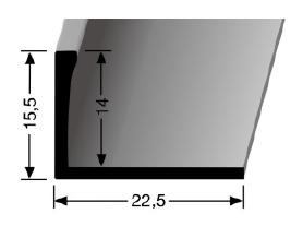 Abschlussprofil (311U) ungestanzt