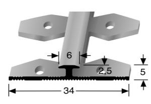 Einfach biegbares Abschlussprofil (363EB)