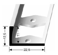 Doppel-K Profil (308G) gestanzt