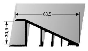 Rampenprofil (267U) ungebohrt