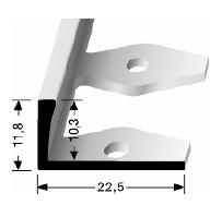 Einfach biegbares Abschlussprofil (304)